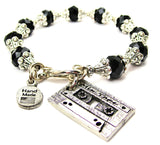 Mix Tape Capped Crystal Bracelet