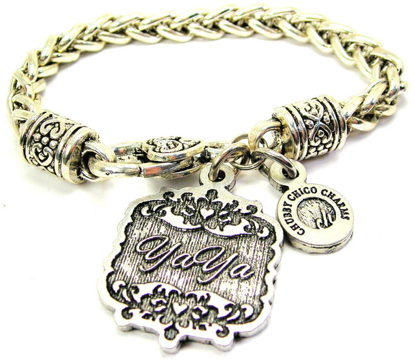 YaYa Victorian Scroll Cable Link Chain Bracelet