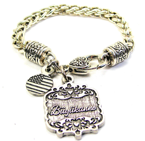 Buyukanne Victorian Scroll Cable Link Chain Bracelet