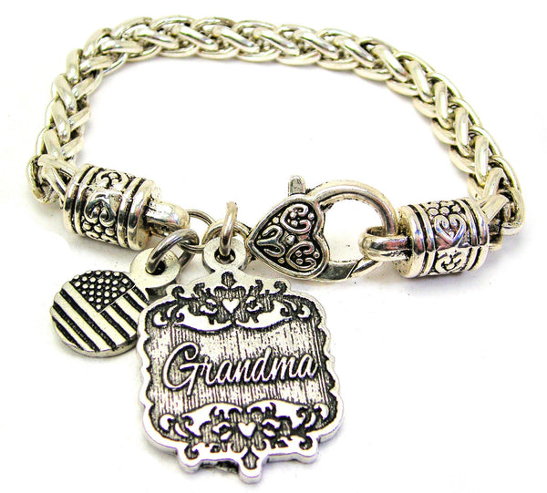 Grandma Victorian Scroll Cable Link Chain Bracelet