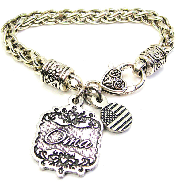 Oma Victorian Scroll Cable Link Chain Bracelet