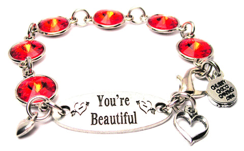 You're Beautiful Crystal Connector Bracelet