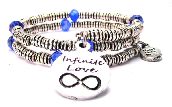 Infinite Love Circle Curly Coil Wrap Style Bangle Bracelet