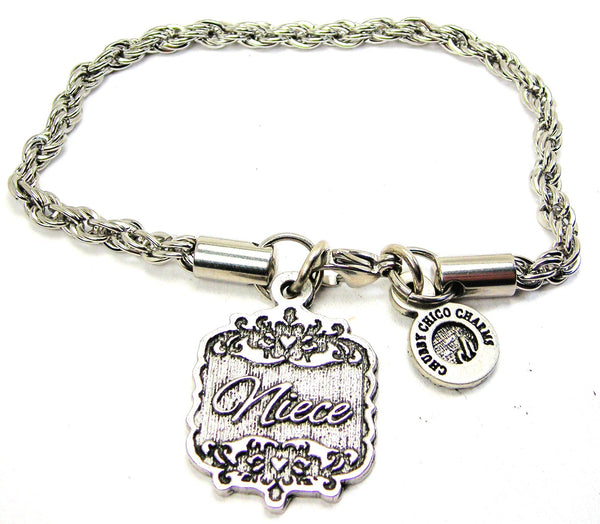 Niece Victorian Scroll Rope Chain Bracelet