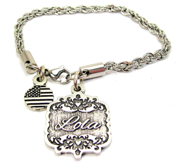 Lola Victorian Scroll Rope Chain Bracelet