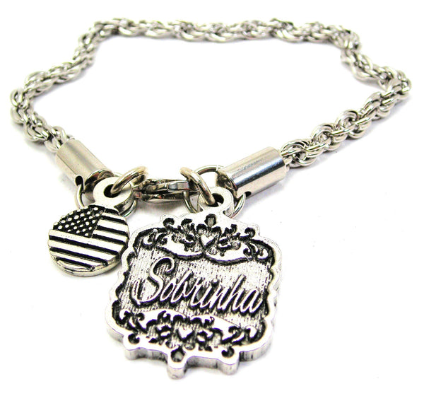 Sobrinha Victorian Scroll Rope Chain Bracelet