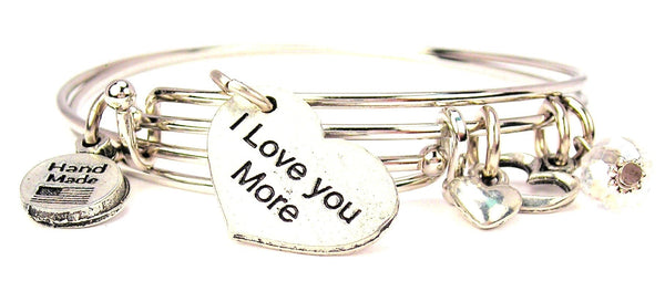 I love you more bracelet, I love you bracelet, love bracelet, love expression bracelet