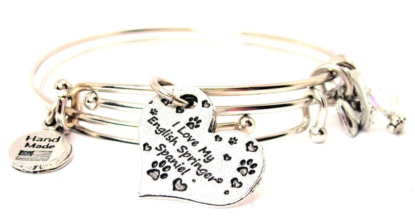 English Springer spaniel bracelet, dog lover bracelet, animal lover bracelet, adoption awareness bracelet