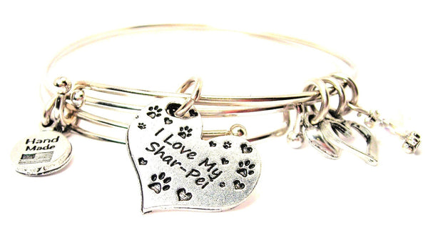 I love my Shar pie bracelet, I love my Shar pie bangles, I love my Shar pie jewelry, Shar pie bracelet
