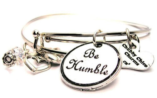 Be Humble Expandable Bangle Bracelet Set
