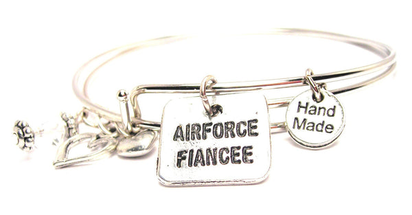 Airforce Fiancée Expandable Bangle Bracelet Set