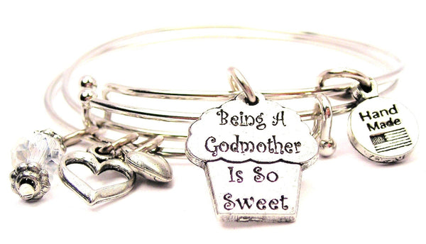 godmother bracelet, godmother bangles, godmother jewelry, love bracelet, heart bracelet, family jewelry
