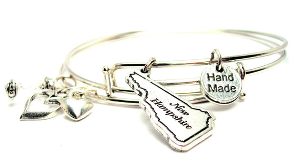New Hampshire Expandable Bangle Bracelet Set