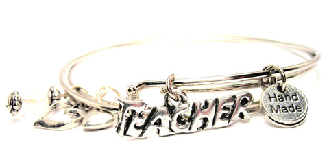 Teacher Expandable Bangle Bracelet Set