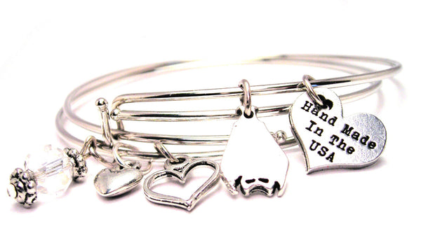 Upside Down Bat Expandable Bangle Bracelet Set