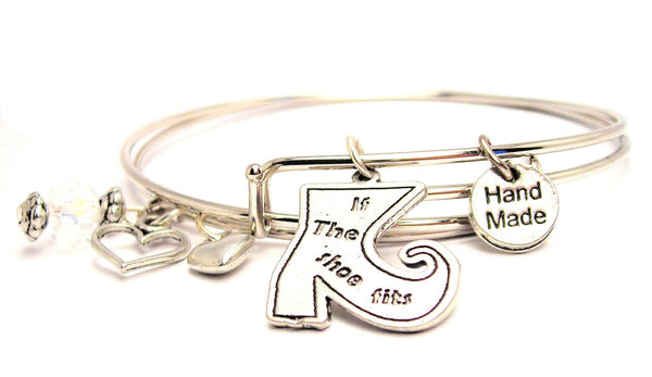If The Show Fits Witch Boot Expandable Bangle Bracelet Set