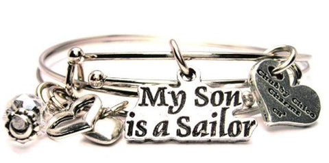 My Son Is A Sailor Expandable Bangle Bracelet Set