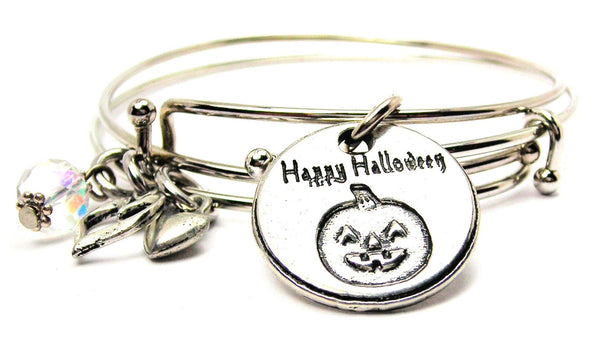 Halloween bracelet, Halloween jewelry, happy Halloween bracelet, holiday jewelry