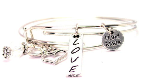 Love Stick Expandable Bangle Bracelet Set