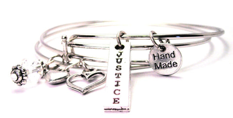 Justice Long Tab Expandable Bangle Bracelet Set