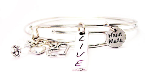 Live Stick Expandable Bangle Bracelet Set