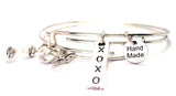 XOXO Long Tab Expandable Bangle Bracelet Set