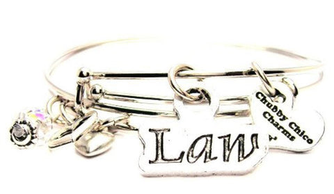 Law Expandable Bangle Bracelet Set