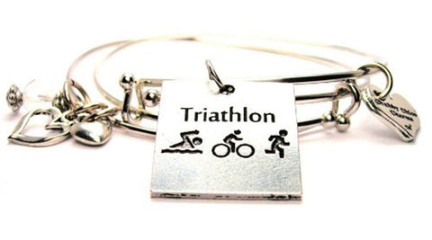 Triathlon Expandable Bangle Bracelet Set