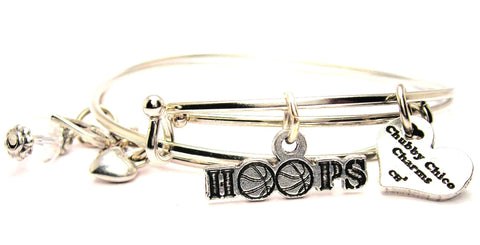 Hoops Basketball Expandable Bangle Bracelet Set