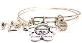 The Marines Flower Expandable Bangle Bracelet Set