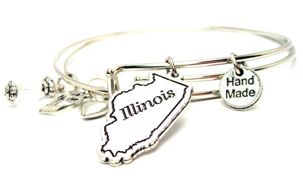 Illinois Expandable Bangle Bracelet Set