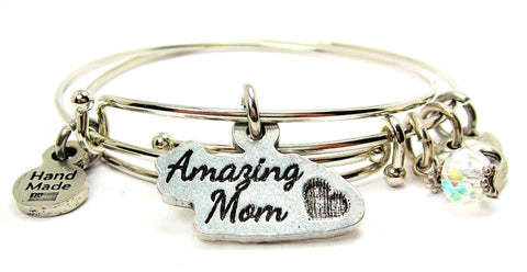 Amazing Mom Expandable Bangle Bracelet Set