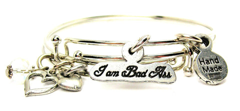 I Am Bad Ass Expandable Bangle Bracelet Set