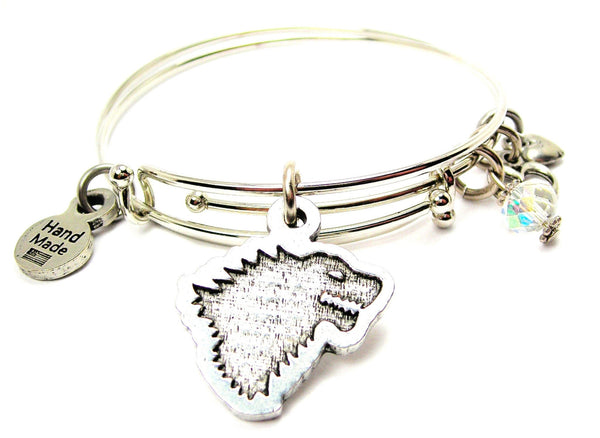 Dire Wolf Expandable Bangle Bracelet Set