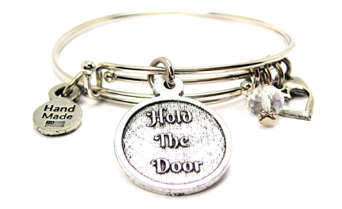 Hold The Door Expandable Bangle Bracelet Set