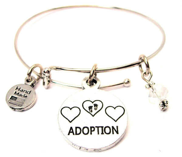 Adoption Expandable Bangle Bracelet