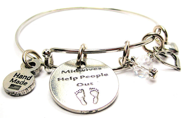 Midwives Help People Out Expandable Bangle Bracelet