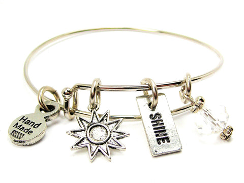 Sunburst And Shine Expandable Bangle Bracelet