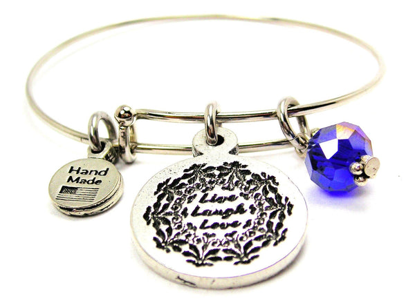 Live Laugh Love Expandable Bangle Bracelet