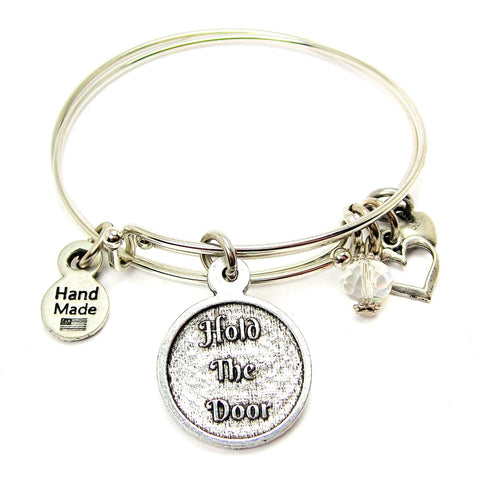 Hold The Door Bangle Bracelet