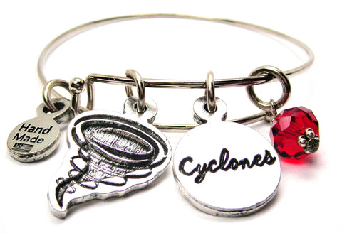 Cyclone With Cyclones Cirle Expandable Bangle Bracelet