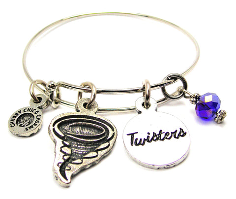Twister With Twisters Circle Expandable Bangle Bracelet