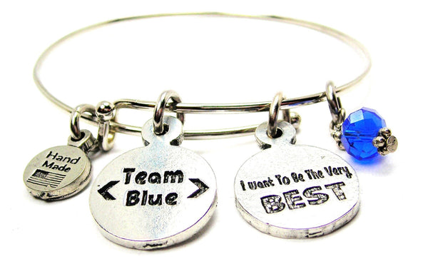 Pokémon Team Blue - Mystic I Wanna Be The Very Best Bangle Bracelet