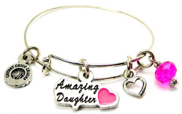Amazing Daughter Hand Painted Bangle Bracelet