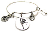 Rhythmic Gymnast  Bangle Bracelet