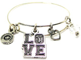 Love With Cheerleader In O Bangle Bracelet