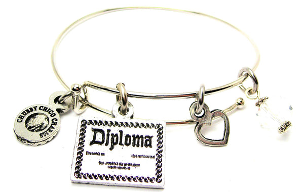 Fancy Diploma Bangle Bracelet