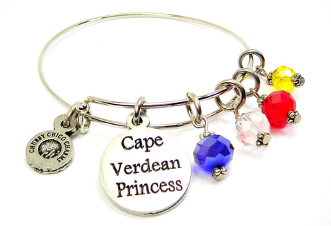 Cape Verdean Princess Expandable Bangle Bracelet