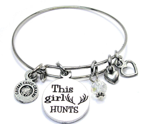 This Girl Hunts Bangle Bracelet