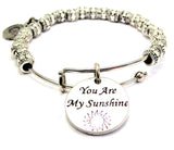 You Are My Sunshine Metal Beaded Bracelet